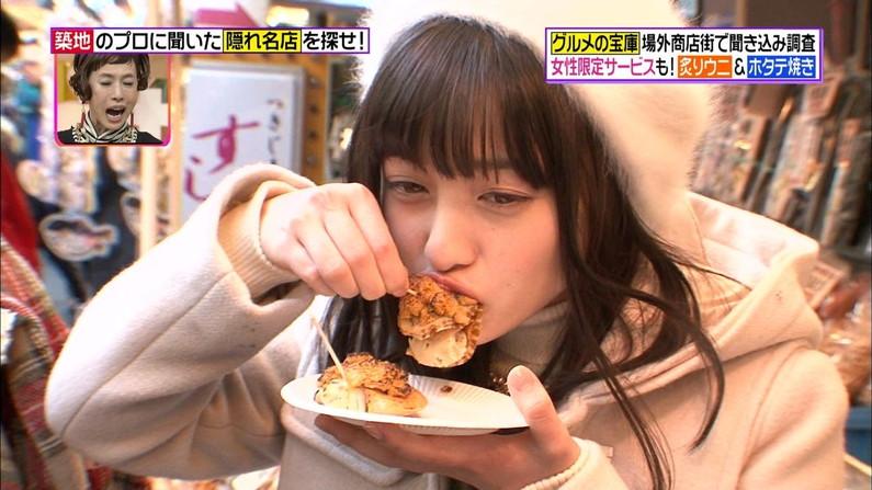 【擬似フェラキャプ画像】やらしいフェラ顔で食レポしちゃうドスケベな女子アナやアイドル達ww 16