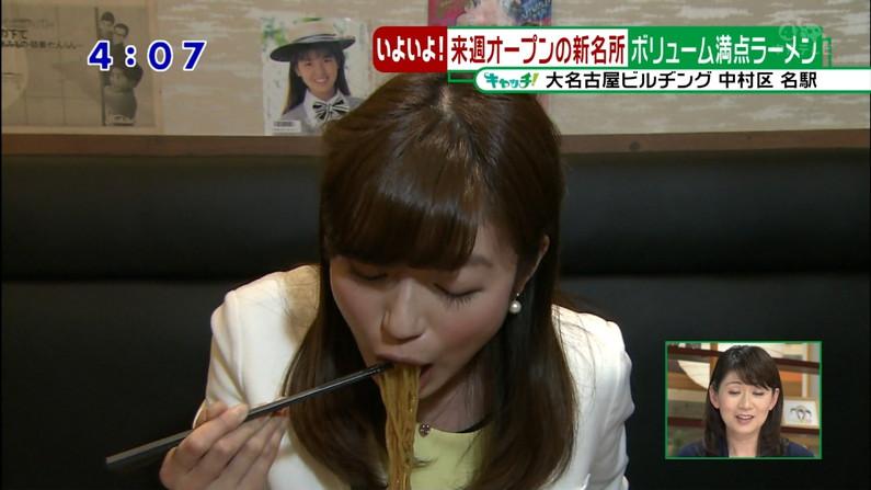 【擬似フェラキャプ画像】欲求不満の女子アナやアイドル達が食レポをするとこんな卑猥な顔になるみたいww 08