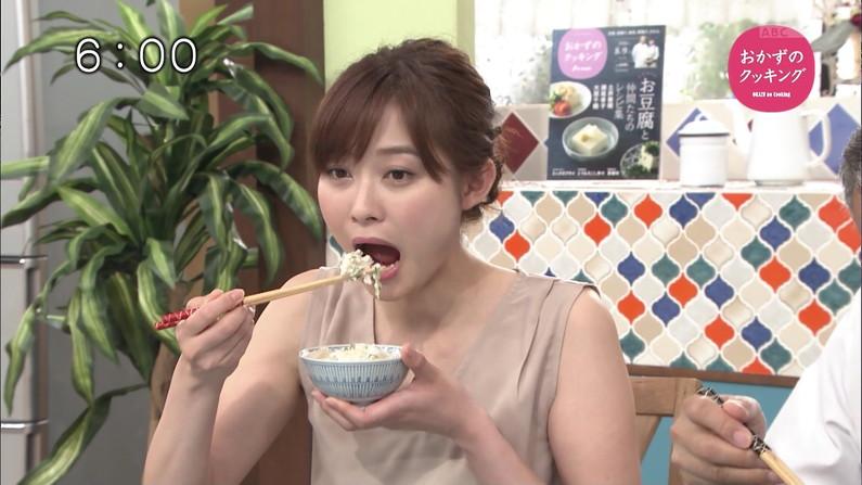 【擬似フェラキャプ画像】欲求不満の女子アナやアイドル達が食レポをするとこんな卑猥な顔になるみたいww 20
