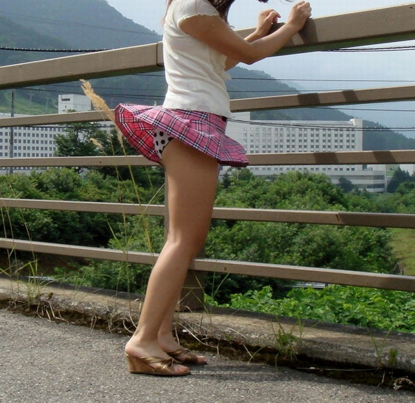 【パンチラ画像】風でパンツが見えた時の一瞬の喜びが計り知れないww 04