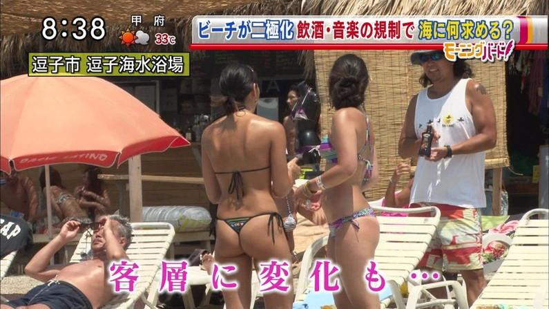 【お尻キャプ画像】テレビで水着が食い込み尻肉はみ出まくりなエロいお尻ww 03