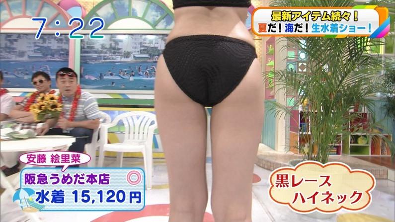 【お尻キャプ画像】テレビで水着が食い込み尻肉はみ出まくりなエロいお尻ww 22