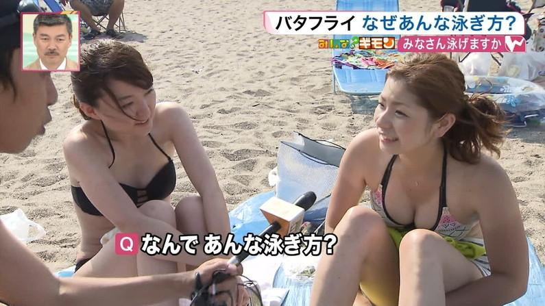 【水着キャプ画像】今年の夏も露出度高めの水着美女達がテレビに映ってオッパイ強調しまくりんごww 03