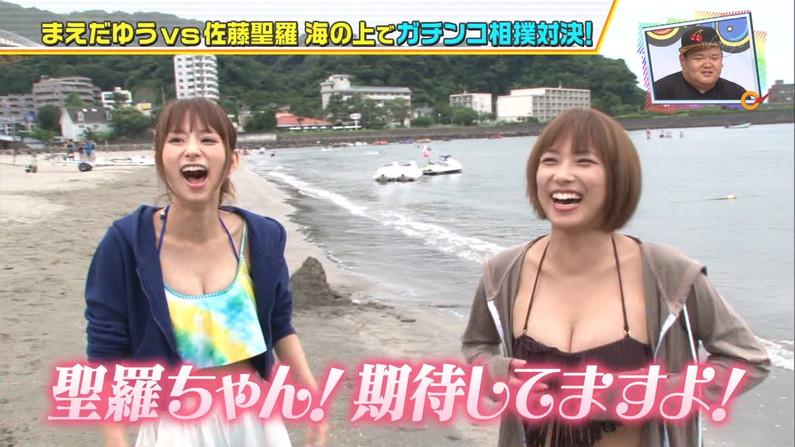 【水着キャプ画像】今年の夏も露出度高めの水着美女達がテレビに映ってオッパイ強調しまくりんごww 14