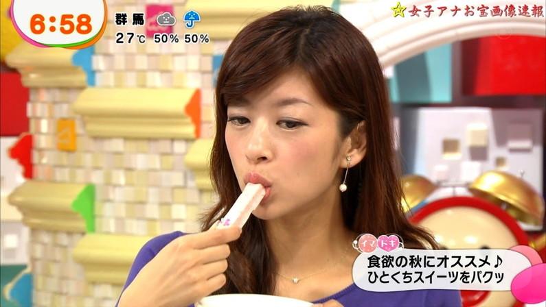 【擬似フェラ画像】美味しさを伝えてくれてるんだけど、どぉしてもエロい顔に見えてしまう女子アナ達の食レポシーンww