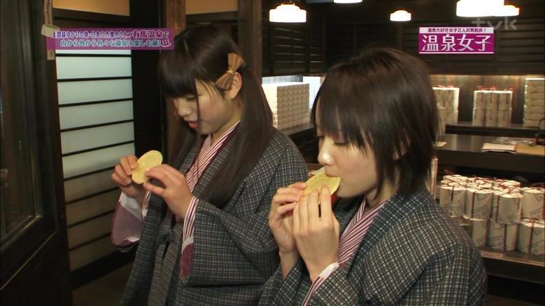 【擬似フェラ画像】食レポと言いつつ卑猥な顔をテレビに晒される女子アナやアイドル達ww