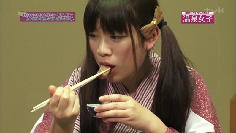 【擬似フェラ画像】食レポと言いつつ卑猥な顔をテレビに晒される女子アナやアイドル達ww 02