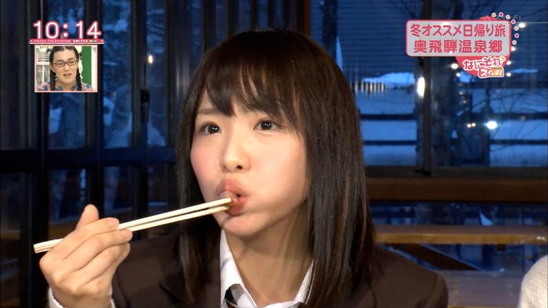 【擬似フェラ画像】食レポと言いつつ卑猥な顔をテレビに晒される女子アナやアイドル達ww 11