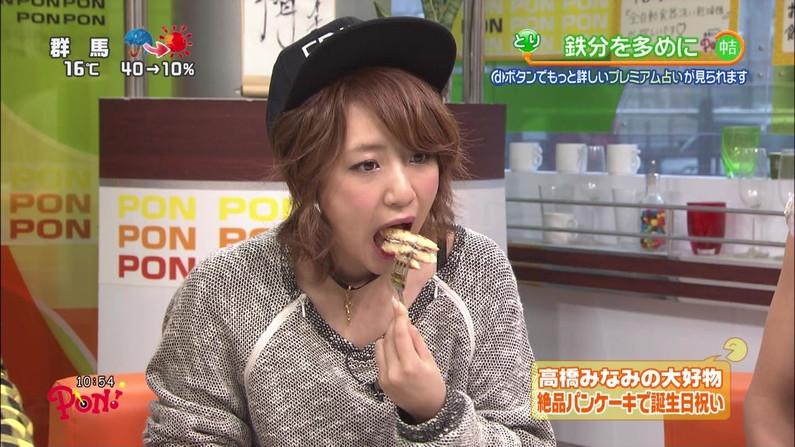 【擬似フェラ画像】食レポと言いつつ卑猥な顔をテレビに晒される女子アナやアイドル達ww 23