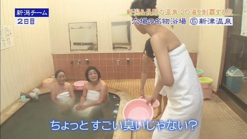 【温泉キャプ画像】旅番組などで映る、美女達の入浴シーンが激エロwその裸体が安易に想像できちゃうw 19