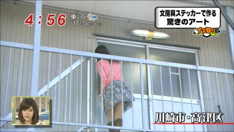【パンチラ放送事故画像】女子アナやアイドルの見えてはいけない領域が見えた瞬間!! 03