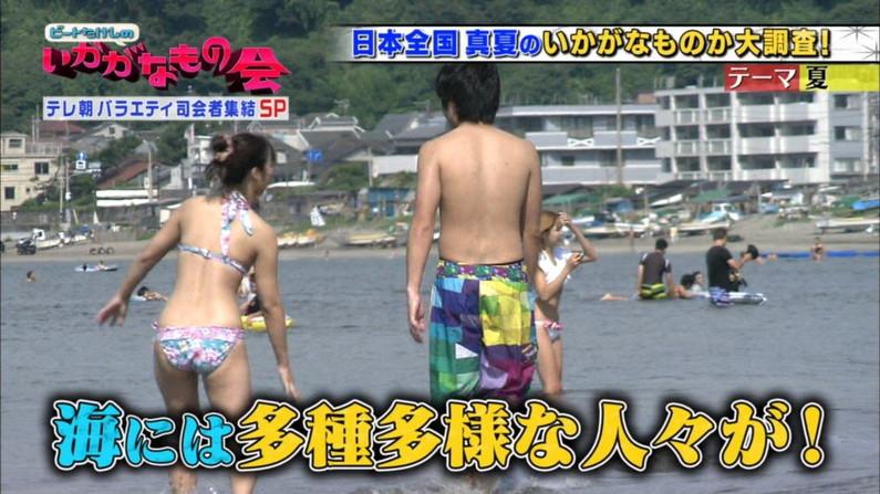 【お尻キャプ画像】テレビに映った水着美女達のハミ尻がエロくてたまらない件ww 12