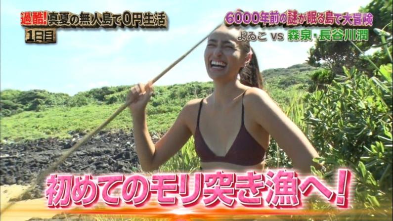 【水着キャプ画像】素人もアイドルも水着からこぼれんばかりのオッパイをテレビでアピールしまくりww 05