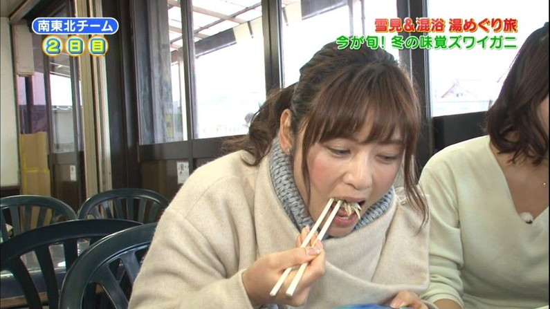 【擬似フェラキャプ画像】女子アナやアイドルのフェラ顔が映される食レポってじわじわ来るなwww 05