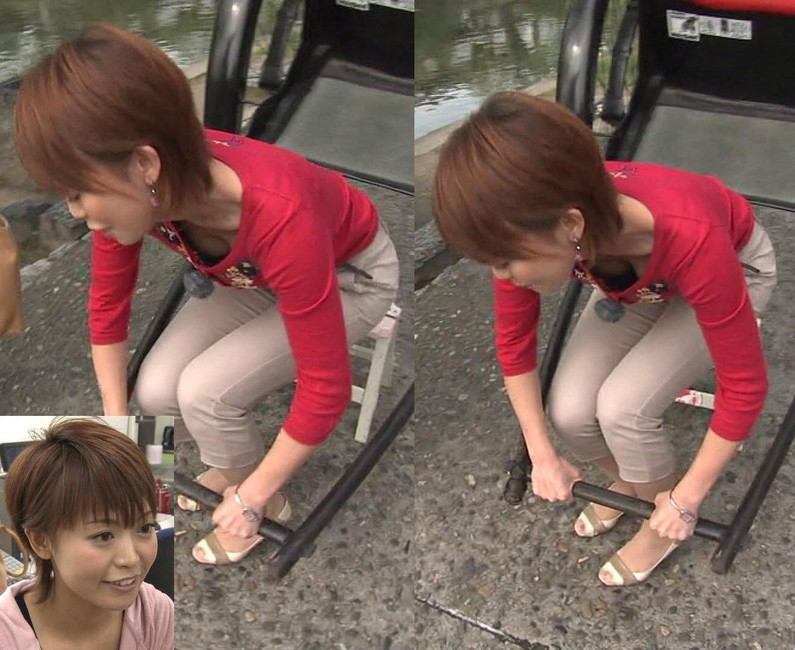 【胸ちらキャプ画像】前屈みになった瞬間に見えるタレント達の乳房が柔らかそうでたまりませんw 09