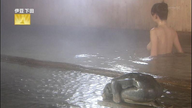 【温泉キャプ画像】バスタオル一枚でテレビに出ちゃうタレント達の身体のシルエットがエロすぎww 03