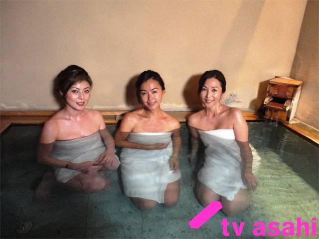 【温泉キャプ画像】バスタオル一枚でテレビに出ちゃうタレント達の身体のシルエットがエロすぎww 22