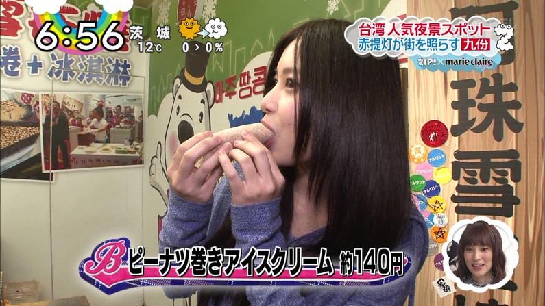 【擬似フェラキャプ画像】チンコ咥えるかのようにエロい食べ方するタレント達の表情がエロすぎるw 06