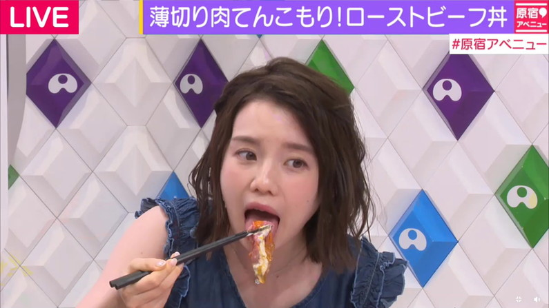 【擬似フェラキャプ画像】チンコ咥えるかのようにエロい食べ方するタレント達の表情がエロすぎるw 07