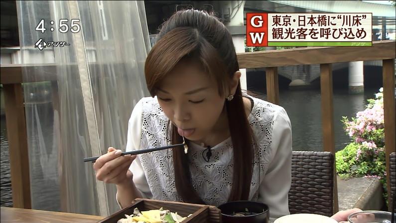 【擬似フェラキャプ画像】チンコ咥えるかのようにエロい食べ方するタレント達の表情がエロすぎるw 15