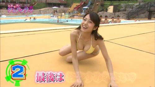 【水着キャプ画像】夏は美女のオッパイアピール期間wエロいオッパイ思う存分テレビでアピールww 07