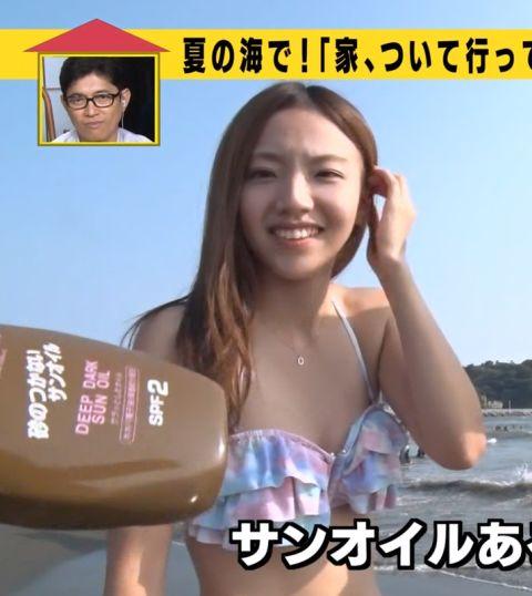 【水着キャプ画像】テレビでたわわなオッパイが水着からこぼれそうになってる巨乳娘達www 22
