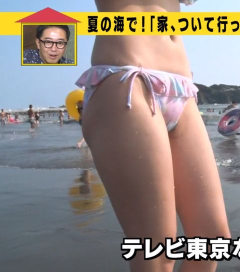 【水着キャプ画像】テレビでたわわなオッパイが水着からこぼれそうになってる巨乳娘達www 23