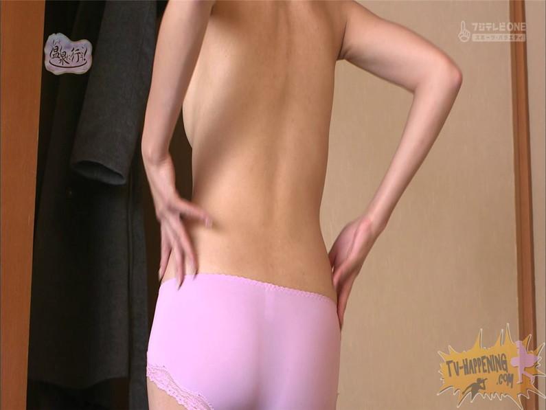 【お宝エロ画像】人気温泉番組もっと温泉に行こうで美女の生尻が見放題ww際どいシーンがタマランw 12