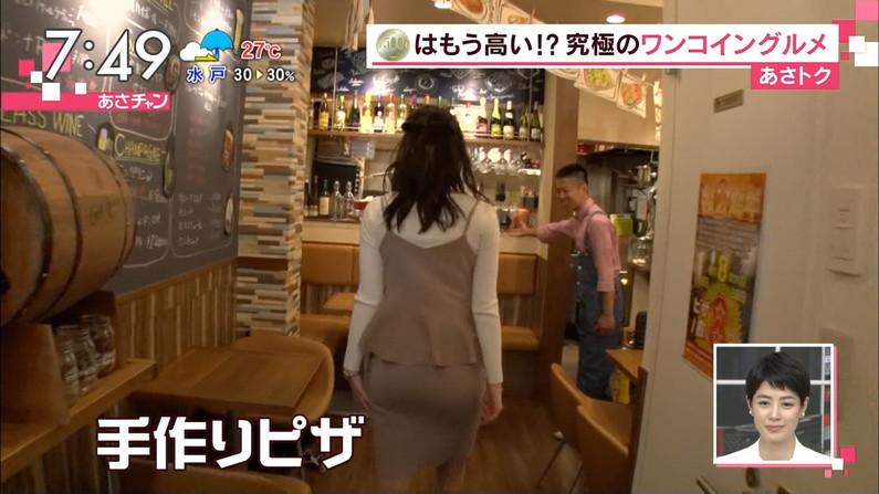 【お尻キャプ画像】女子アナの綺麗なヒップラインが丸わかりのピタパンお尻がエロッww 09