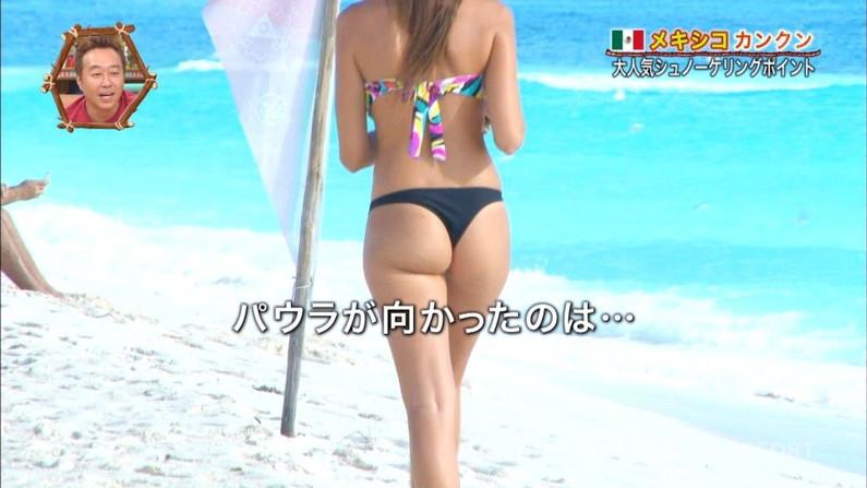 【お尻キャプ画像】テレビで水着からハミ尻しまくりの美女達がエロすぎww 05