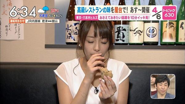 【放送事故画像】フェラ顔満開でやらしくテレビで食事する女達! 01