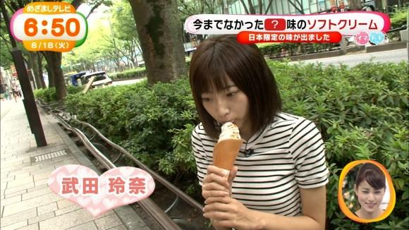 【放送事故画像】フェラ顔満開でやらしくテレビで食事する女達! 05