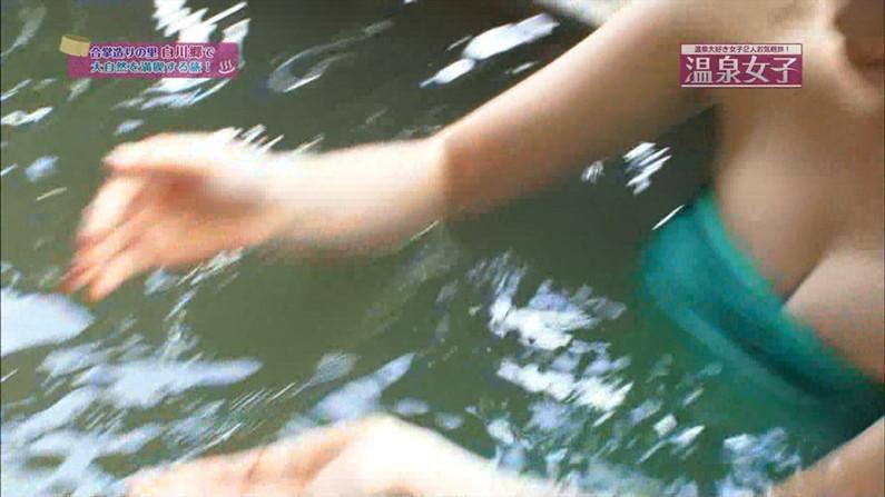 【温泉キャプ画像】温泉レポートで半乳晒してる女達って露出癖があるのか?ww 16
