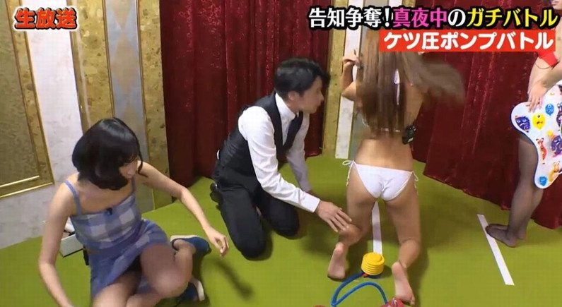 【お尻キャプ画像】テレビで水着からはみ出してる尻肉がめちゃシコww