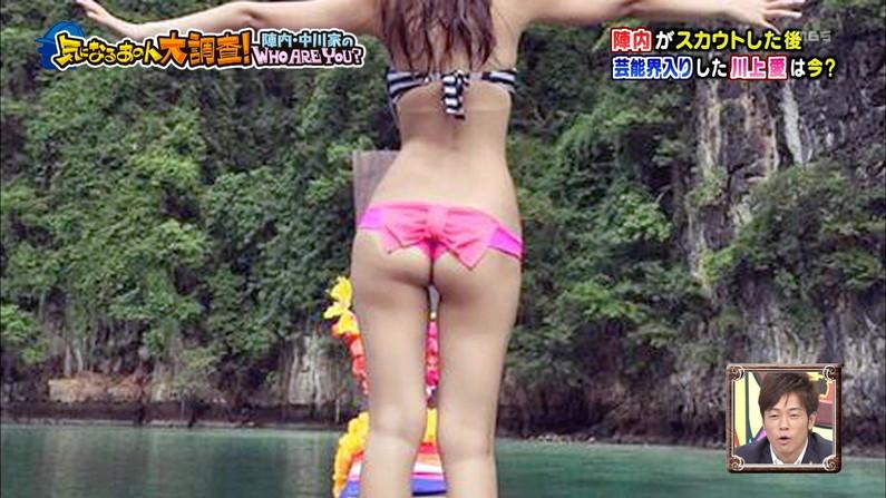 【お尻キャプ画像】テレビで水着からはみ出してる尻肉がめちゃシコww 04
