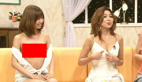 【胸ちらキャプ画像】最近のテレビではオッパイは見せる物だと考えてるタレント達ww 24