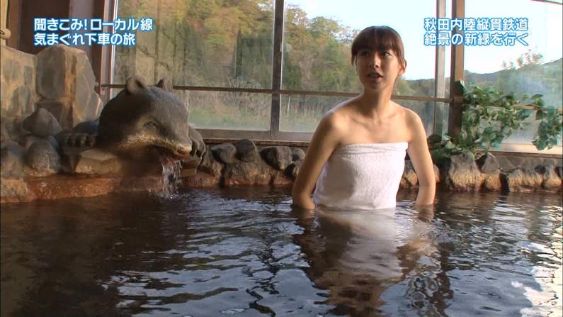 【温泉キャプ画像】美女の際どい所までみえちゃう温泉ロケがエロすぎてたまらんww 21