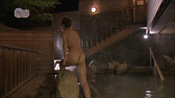 【お宝画像】テレビでバスタオル一枚しか身にまとってない女達! 01