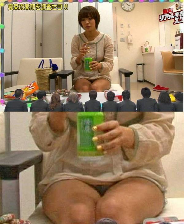 【放送事故画像】テレビ見てたら思わず目を細めて凝視してしまうスカートの中ww 17