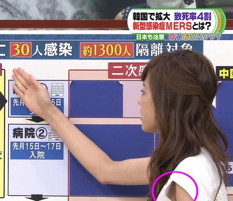 【放送事故画像】テレビに映った脇もエロいけどその隙間からブラジャーまで見えてないか? 05