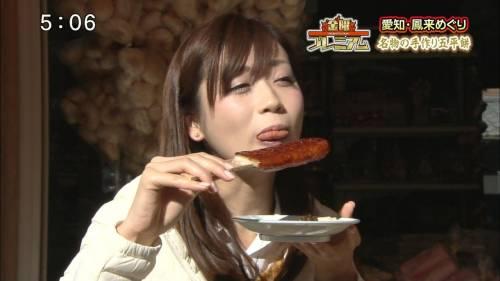 【放送事故画像】食べ物でフェラの練習するとはけしからん!だが、エロいww 10