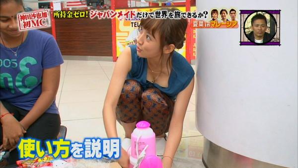 【放送事故画像】テレビ越しに巨乳で誘惑なんかしないでくださいwww
