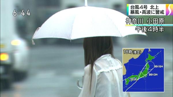 【放送事故画像】テレビでうっすら下着透けさして見せてる女達www 19