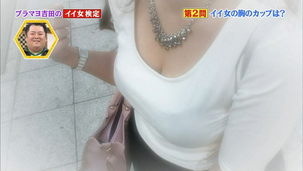 【放送事故画像】素人もアイドルもオッパイでかけりゃテレビに映れるってか?www 07