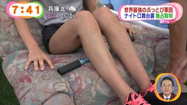 【放送事故画像】綺麗な足してるんだけど太ももはムチムチってエロくない?ww 23