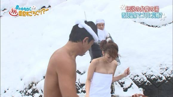 【放送事故画像】入浴シーンに映るオッパイやお尻ってエロさ際立ってやばいよなwww 09