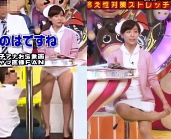 【放送事故画像】パンツちらつかせながらテレビに映るって痴女なの?www 20