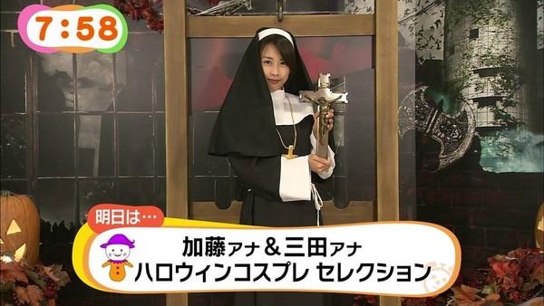 【放送事故画像】女子アナ達のエロ可愛いハロウィンコスプレwww 08