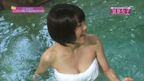 【放送事故画像】お湯に浮かぶ芸能人たちのオッパイがエロくてたまらんwww 09