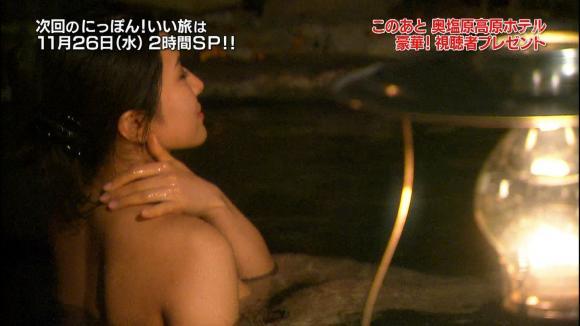 【放送事故画像】お湯に浮かぶ芸能人たちのオッパイがエロくてたまらんwww 17